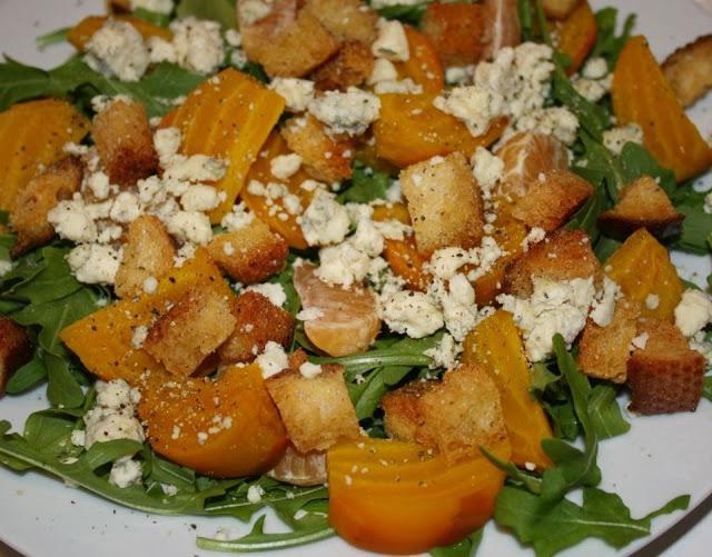 Blood Orange and Arugula Salad with Slow Roasted Golden Beets, Blue ...