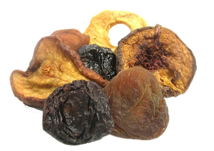 Dried mixed fruit_white