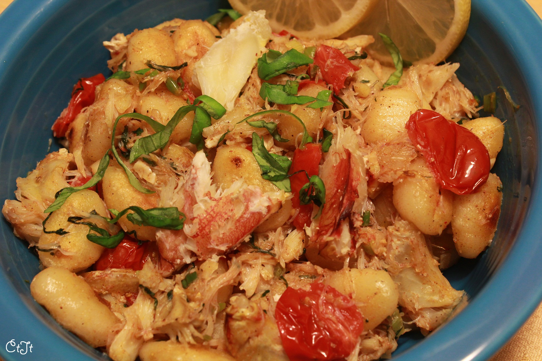 Gnocchi with Crab and Lemon Basil Sauce