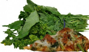 Mustard Greens & Sausage Pizza_White