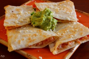 Salsa Shrimp Quesadillas Topped with Sigona's Guacamole_IMG_7364