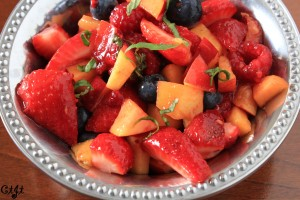 Fresh Summer Fruit Salad with a Summertime