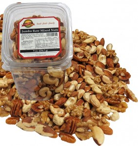 Raw mixed Nuts_white