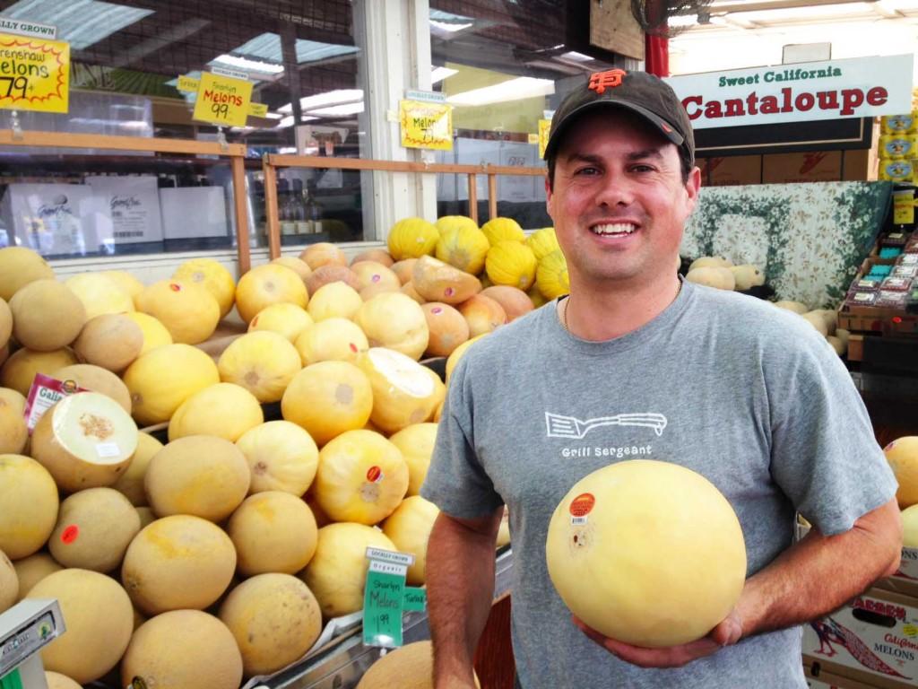 Robbie with Orange flesh Melon