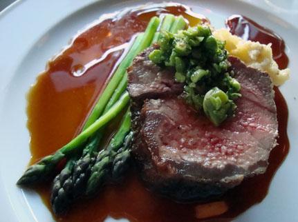 New york steak with balsamic