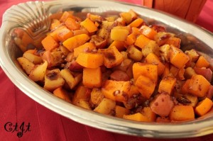 Local, Organic Roasted Butternut Squash & Apples with Sigona's Maple Balsamic Vinaigrette_sm