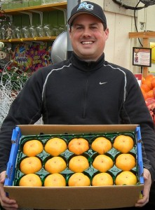 Robbie with Persimmons