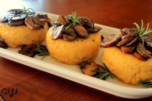 Polenta Cakes with Savory Crimini Mushrooms  IMG_2151_e_sm