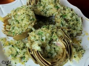 Herb-Stuffed Artichokes with Lemon & Tarragon Olive Oil IMG_3377_E_sm