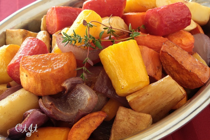Roasted Organic Rainbow Carrots Winter Vegetable Medley