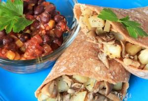 Breakfast Burrito with Southwestern Salsa2
