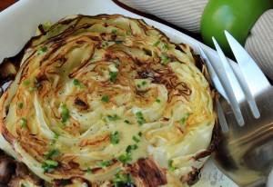 Lemon-garlic roasted cabbage steaks with vinaigrette IMG_3482_E