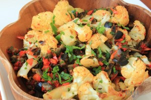 Roasted Cauliflower with Red, Green and Black Confetti IMG_3467_E