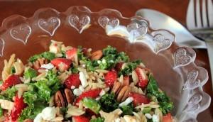 Fresh Strawberry, Kale and Orzo Salad with a Balsamic Vinaigrette IMG_5569_E_sm