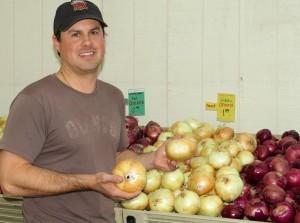 Robbie with Vidalia onions