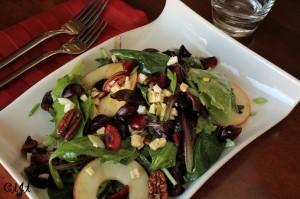 Bing Cherry, Apple and Pecan Salad with Sigona's Red Cherry Balsamic Vinaigrette