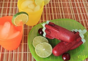 Cherry-Balsamic-Lime Popsicles