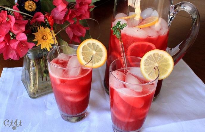 Fresh Bing Cherry Lemonade with fresh cherries, lemon juice and a little Sigona's Sicilian Lemon White Balsamic. Add vodka if it suits you.