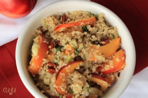 Fresh Peach & Quinoa Salad with a Honey-Ginger Vinaigrette