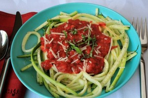 Healthy Zucchini Noodles with Sigona's Marinara
