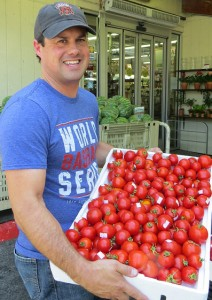Robbie-with-Early-Girl-Tomatoes1