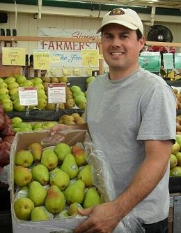 Robbie holding pear box