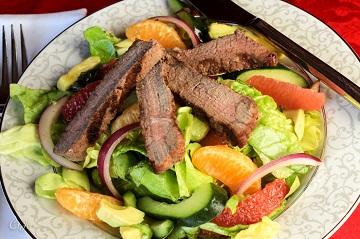 Steak and Satsuma Salad with Avocado Grapefruit and a Honey Ginger Vinaigrette 0484E (1 of 1)_360