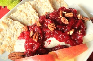 Warmed Brie with a Cranberry Pear Ginger Sauce IMG_9138_E_sm