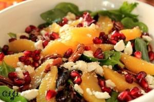 Winter Salad with Satsuma Mandarins and Pomegranates IMG_1216_c_sm