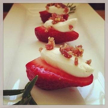 Luisa's rosemary mascarpone strawberries_360