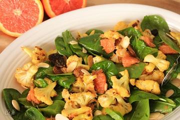 Curry Roasted Cauliflower Salad with Cara Cara Oranges Golden Raisins and Sigonas Tarragon Oil_0575E (1 of 1)_360