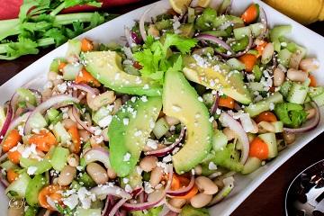 Crisp Celery Cucumber White Bean Salad with Tomato Baklouti Green Chili Oil and Avocado_0773E (1 of 1)_360