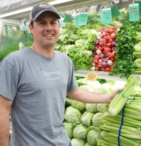 Robbie with Celery