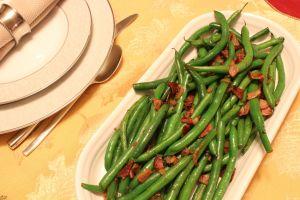 Savory Shallot & Pancetta Green Beans