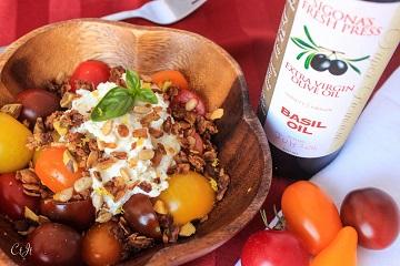 Heirloom Tomatoes with Lemony Ricotta and Savory Granola_360