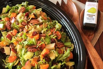 Winter Chop Salad with a Cinnamon-Pear Balsamic Vinaigrette_360