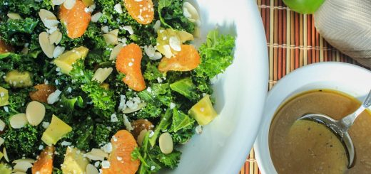Organic Kale and Mandarin Salad with a Honey-Ginger Vinaigrette