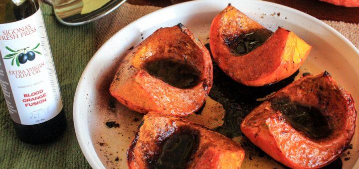 Blood Orange & Cinnamon Pear Roasted Red Kuri Squash