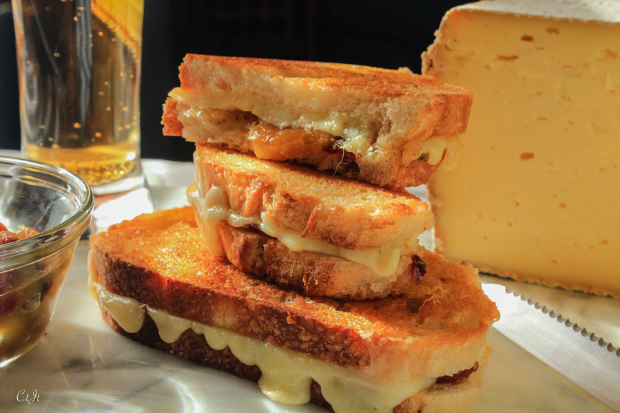 Gooey Grilled Cheese with Thomasville Tomme and Mango-Cranberry Chutney