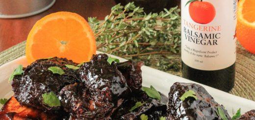 Tangerine Balsamic Braised Beef Short Ribs for instant pot