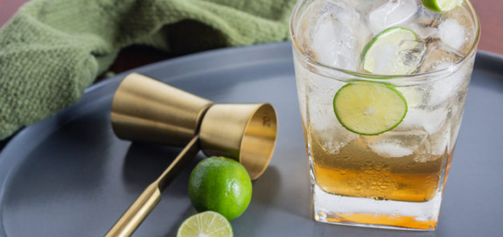 Vodka Tonic or Gin & Tonic with Key Lime Balsamic