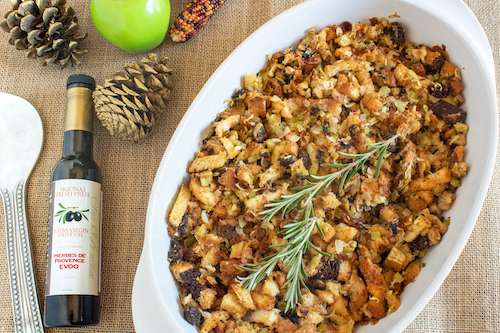 Herbes de Provence Thanksgiving Stuffing featuring Sigona's Herbes de Provence Olive Oil