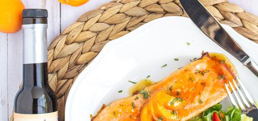 Apricot Balsamic & Ginger Glazed Salmon