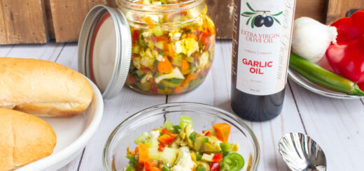 Chicago-Style Giardiniera with Garlic Oil