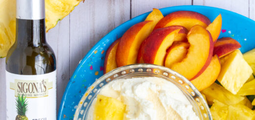 Pineapple Balsamic Whipped Mascarpone & Cream