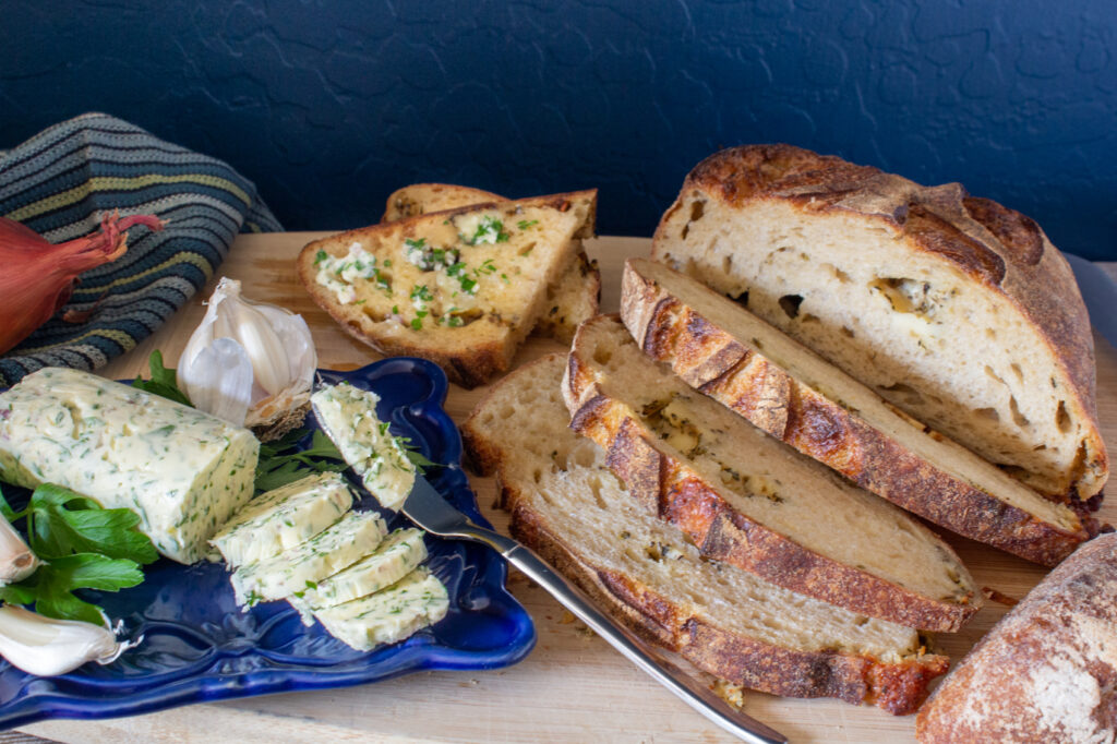 Simple Compound Butter with Garlic & Herbs