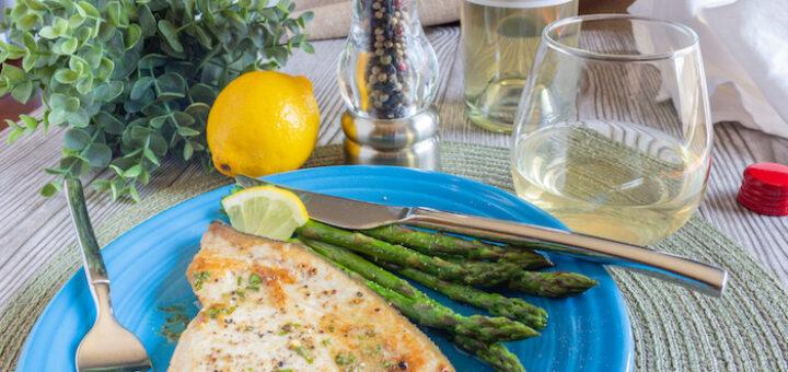 Pan-Seared Swordfish with a Peppercorn & Lemon-Herb Butter Sauce