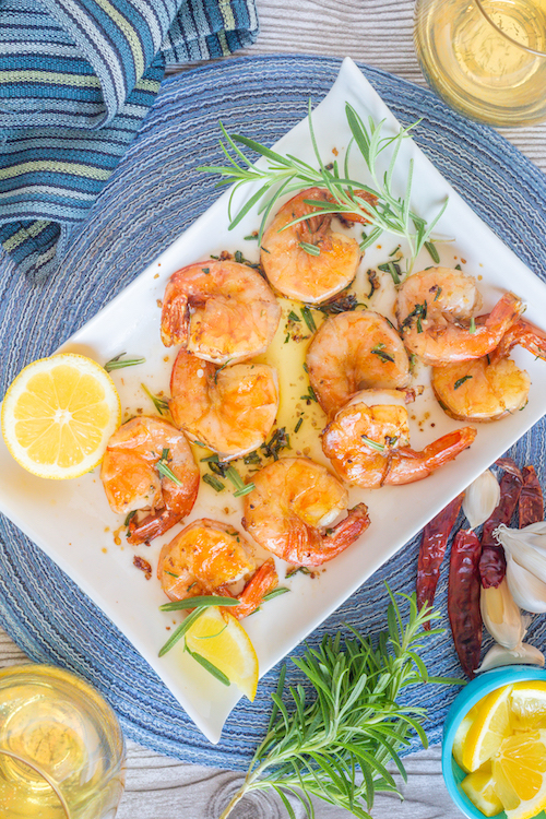 Wild Blue Shrimp Sautéed in Chile-Infused Oil with Rosemary and Garlic