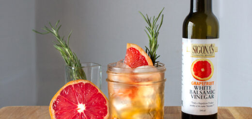 Grapefruit-Infused Balsamic Shrub