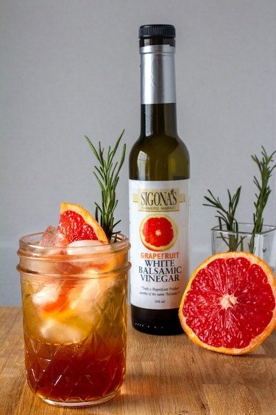 Grapefruit-Infused Balsamic Shrub